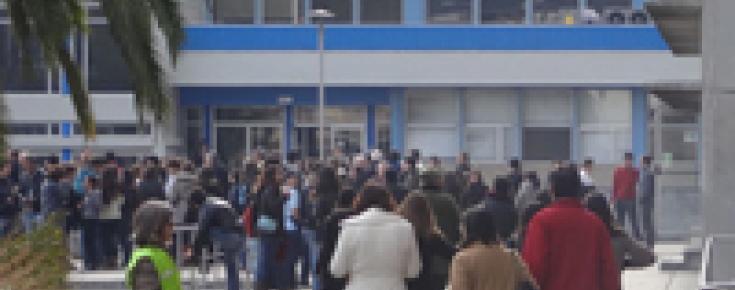 Exercício de evacuação geral dos ocupantes do C8
