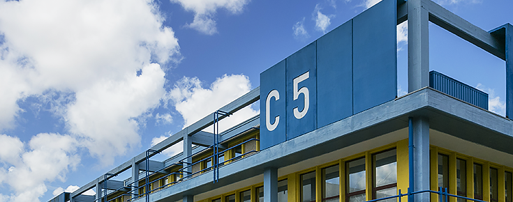 Fotografia do edifício C5 da Faculdade de Ciências