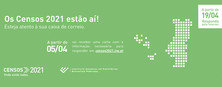 Mapa de Portugal e informações sobre os Censos 2021