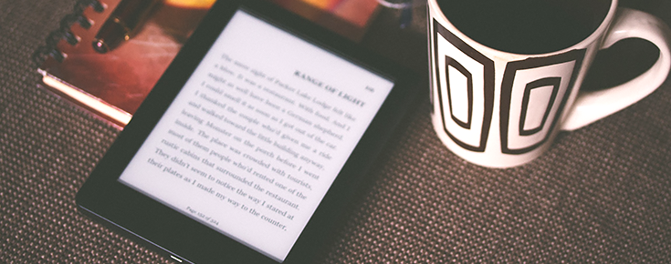 Imagem de leitor de livros digital