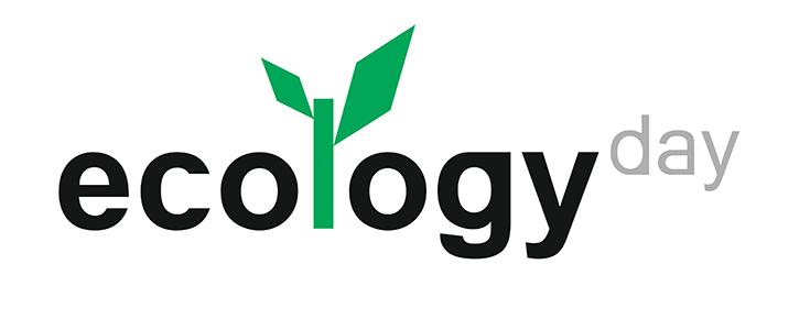 Logótipo do Dia da Ecologia (Ecology Day), sobre um fundo branco