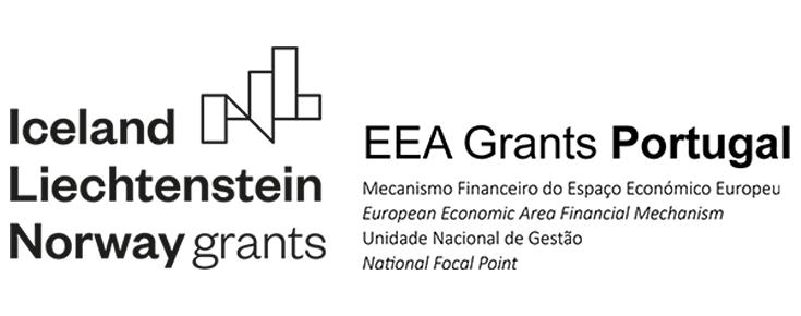 Logótipo EEA Grants Portugal, sobre um fundo branco