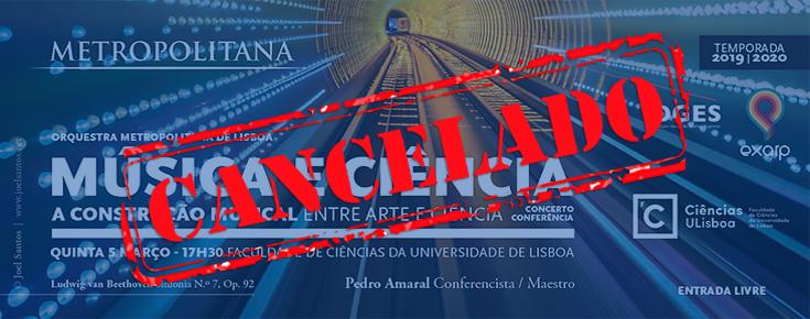 Imagem alusiva ao cancelamento do Concerto e Conferência
