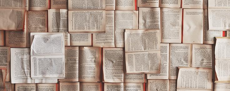 Fotografia de páginas de livros