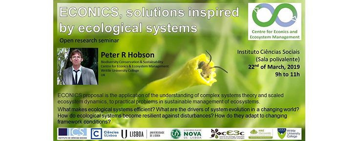 """Seminário """"ECONICS, solutions inspired by ecological systems"""""""