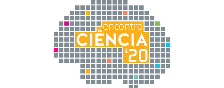 Logótipo do Encontro Ciência 2020, sobre um fundo branco