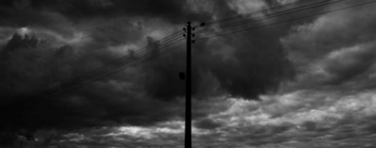 Céu com nuvens escuras