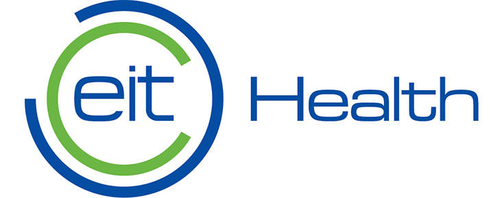 Logótipo EIT Health, sobre um fundo branco