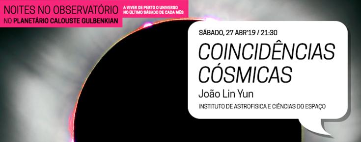 """Noites no Observatório """"Coincidências Cósmicas"""""""
