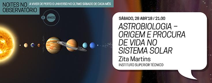 Astrobiologia, a origem e a procura de vida no sistema solar
