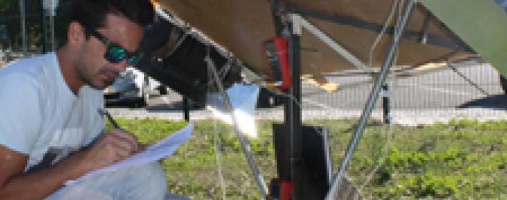 Teste do protótipo do seguidor solar
