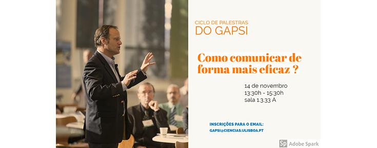 """Ciclo de Palestras do GAPsi """"Como comunicar de forma mais eficaz?"""""""