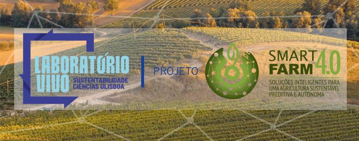 Logótipo do projeto, sobre uma imagem relacionada com agricultura