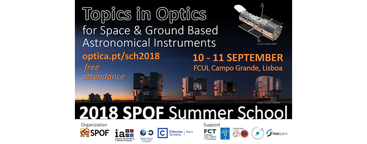 "SPOF 2018 Summer School on ""Topics in Optics for Space & Ground Based Astronomical Instruments"""
