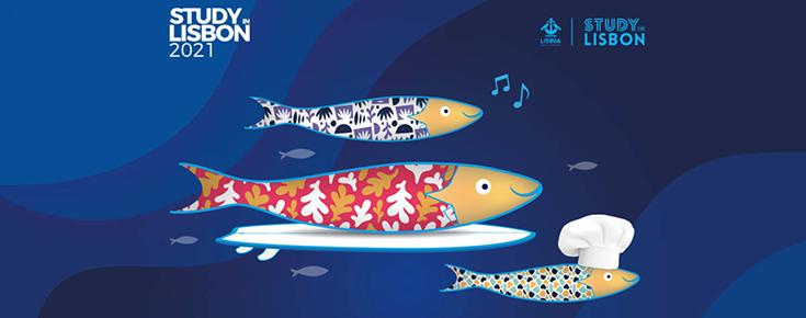 Imagens estilizadas de sardinhas